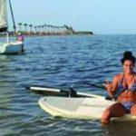 Marta Penalver on vacation in the Mar Menor in 2019.