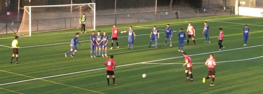 CD Montesinos in action against CF Rafal prior to FFCV lockdown in January.