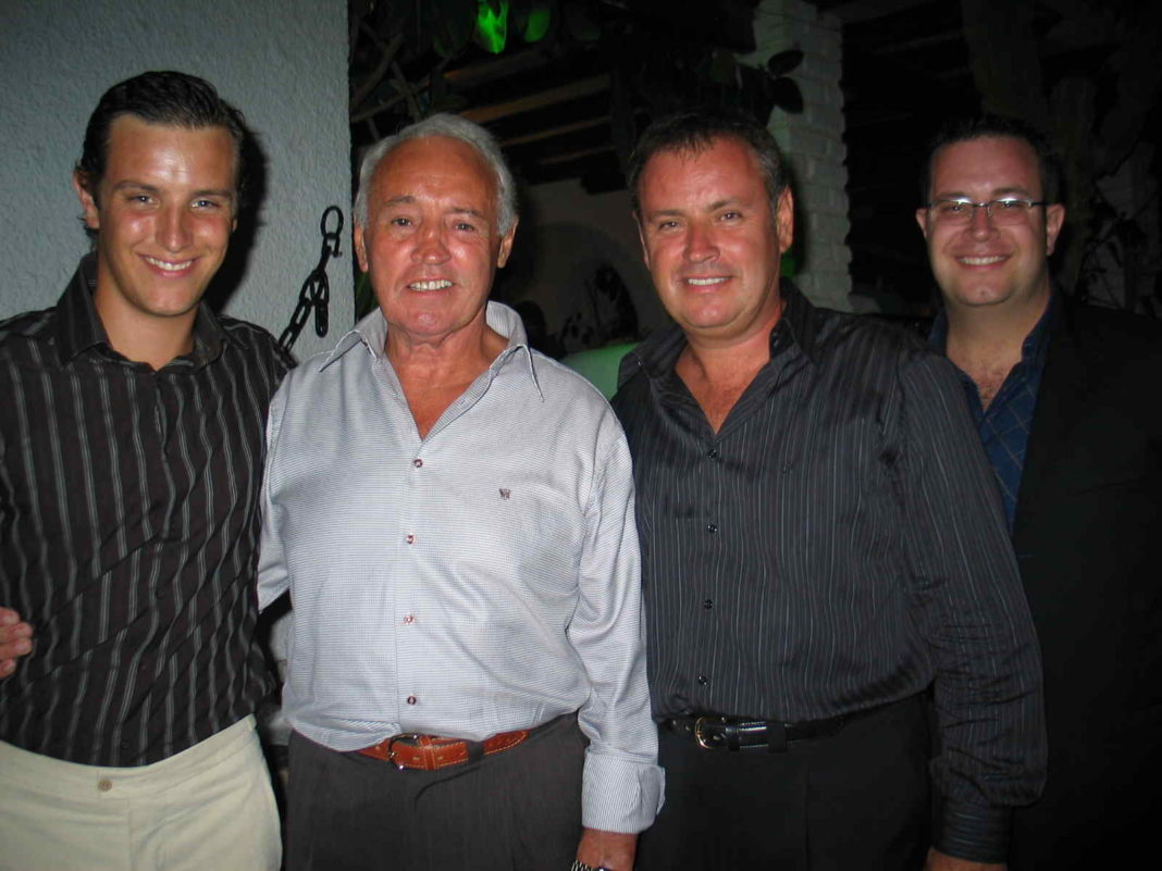 Eddie alongside his father, former professional boxer Eddie senior, flanked by his two sons Elliot and Eddie junior