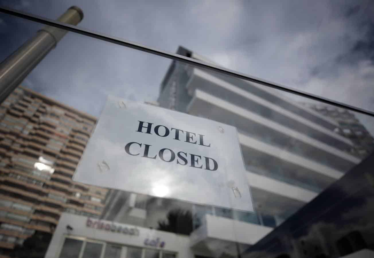 Empty hotels in Benidorm.