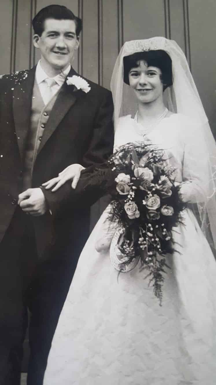 George and Brenda on their wedding day.