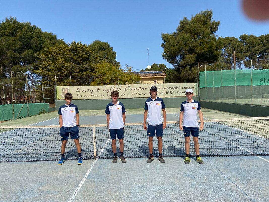 the Infantil team, comprising of Eric Maestre, Luis Castello, Fernando Martínez and Sergio Muñoz,