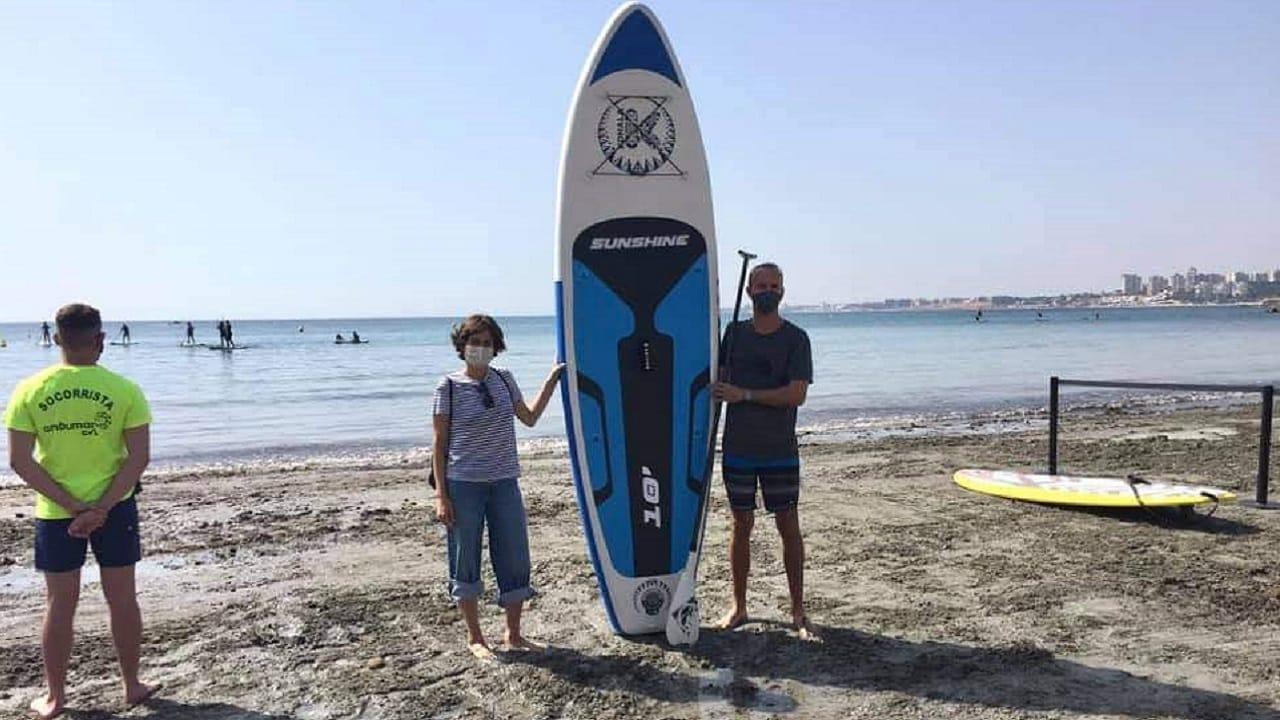 Launch by the councillor for beaches, Luisa Boné