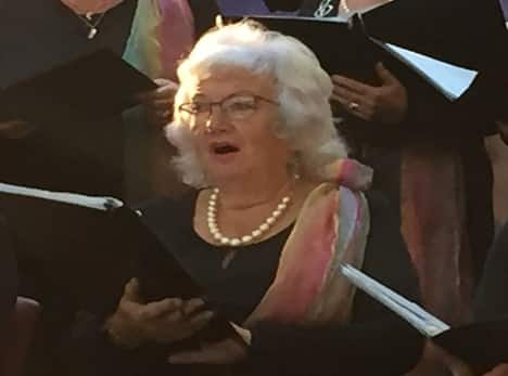 Death of Mary Priddle, founding member of Crescendo International Choir