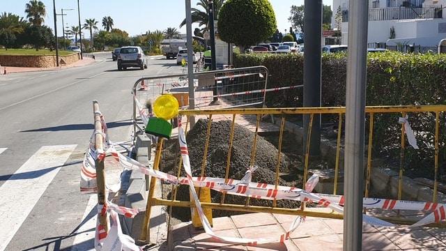 Mojácar improvements along coast road