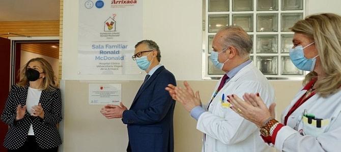 Ronald McDonald room opened at Virgen de la Arrixaca hospital