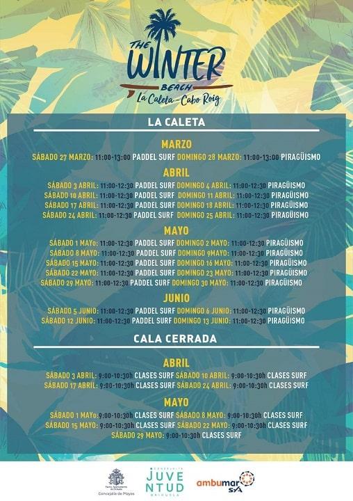 Winter Beach Program for the Orihuela-Costa