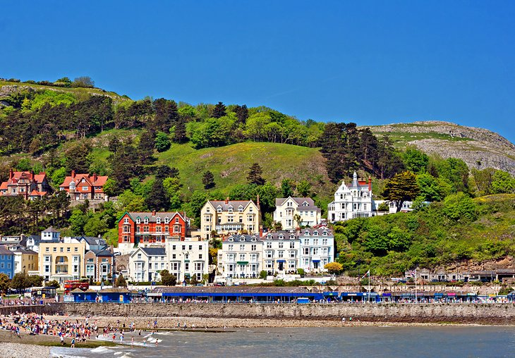 The picturesque town of Llandudno