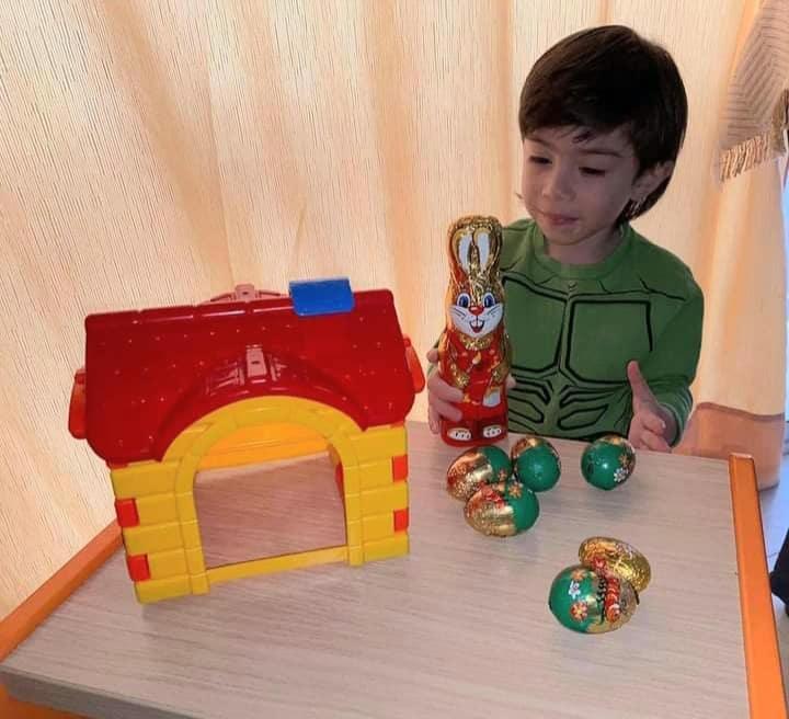 Easter egg joy for children