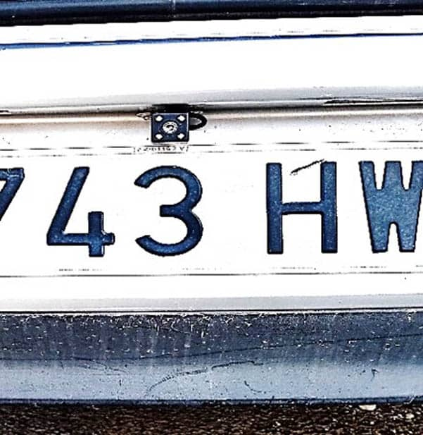 The tiny rear camera was said to impede the number plate