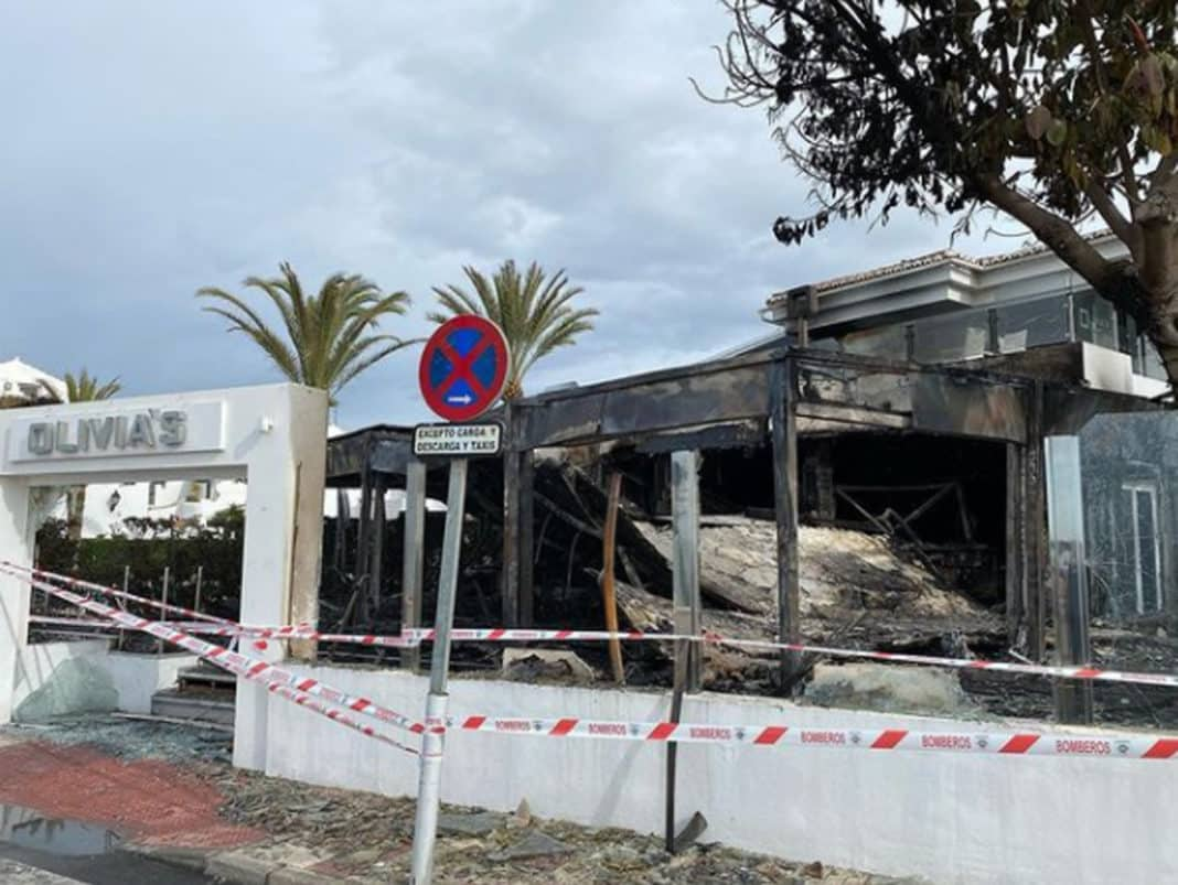 Elliot Wright's Olivia's Restaurant gutted by fire