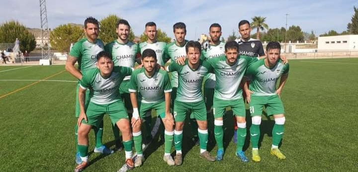 Hondon Nieves CF: Dani, Ángel, Torry, Balle, Ruiz, Sánchez, José, Uri, Marhuenda, Felipe and Pepe.