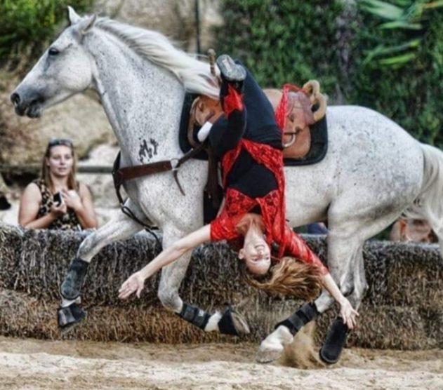 British equine performer-equestrian trick rider sensation Emma Tytherleigh