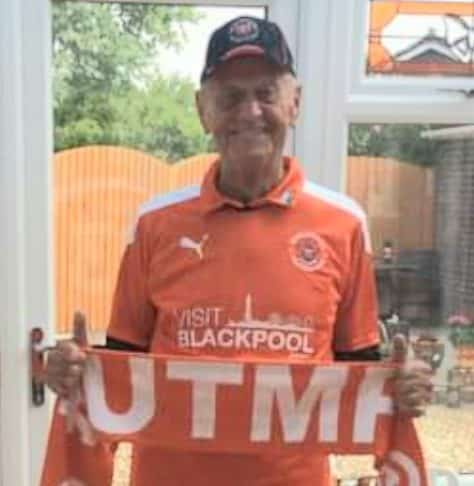 Blackpool FC top fan David Pritty ahead of May 30 League One play-off Final at Wembley.