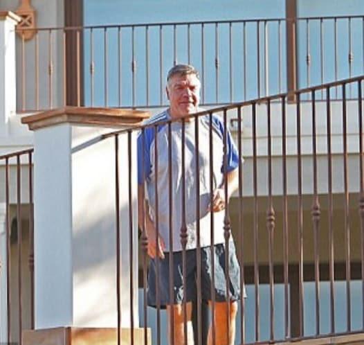 Sam Allardyce at his Villa in Moraira: Decided to leave WBA.