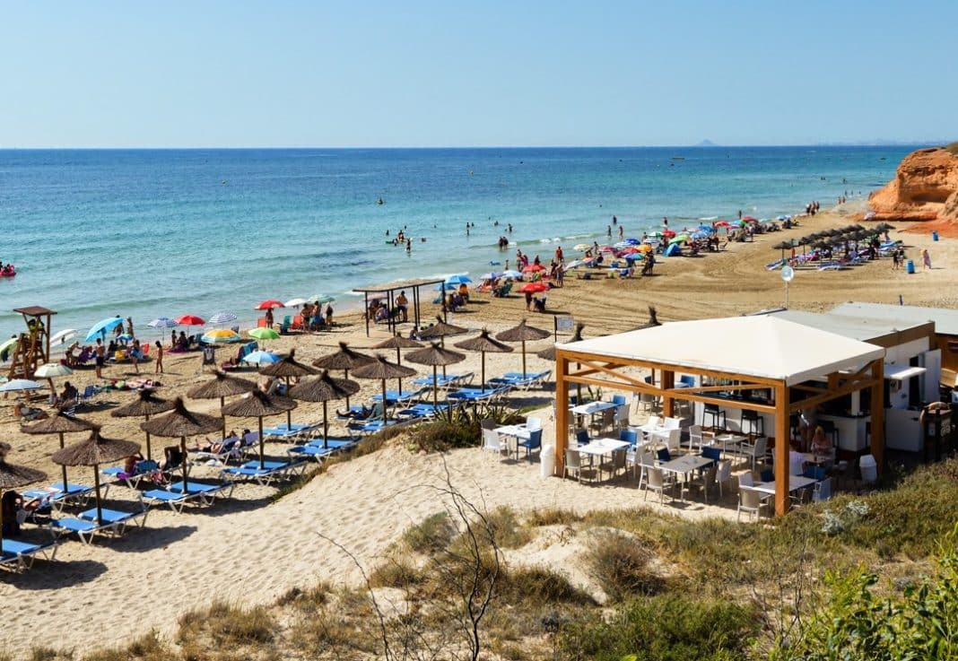 The chiringuito on Cabo Roig beach