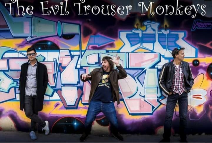 The Evil Trouser Monkeys: Gary Hutchinson, Andrew Hopkins and Perren Armstrong.