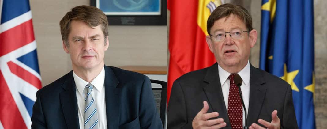 Puig to discuss Costa Blanca travel corridor with British Ambassador.