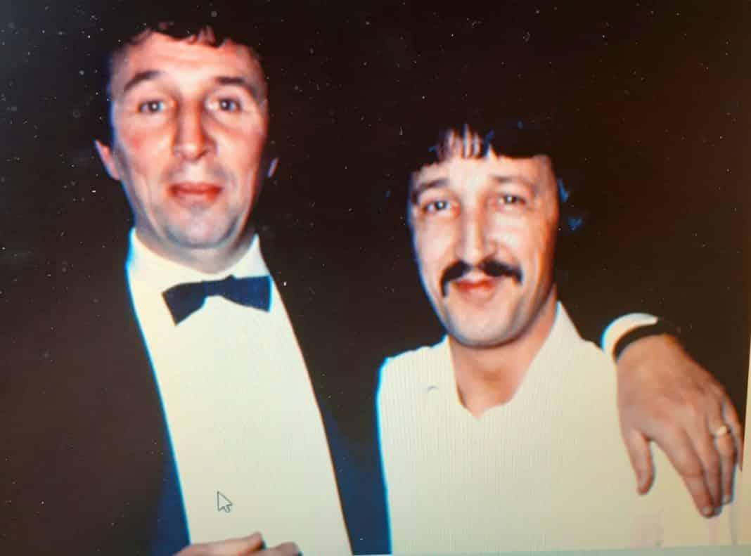 Mike Summerbee and Esteban in the eighties.