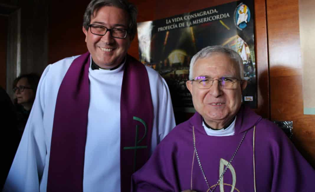 The bishop during a visit to Orihuela Costa