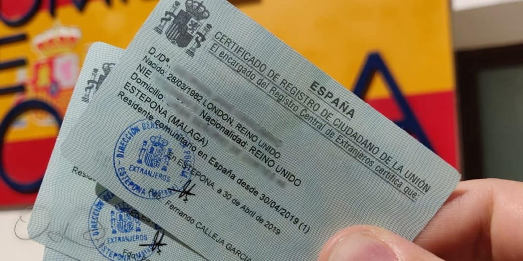 Spain Validity of Green Residencia Certificate