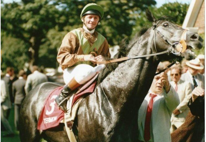 Michael Roberts on board Terimon in 1991