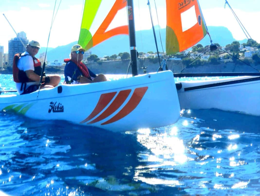When the wind is right and the sails are filled, these catamarans literally fly and