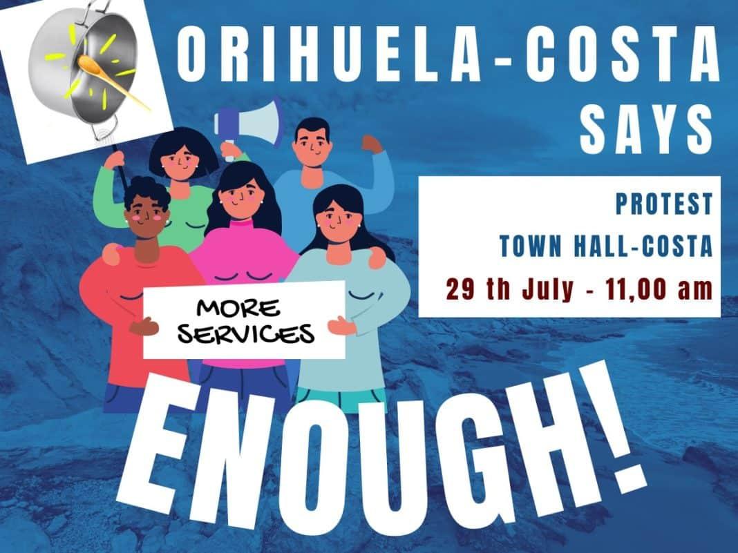Orihuela Costa says 'ENOUGH'.