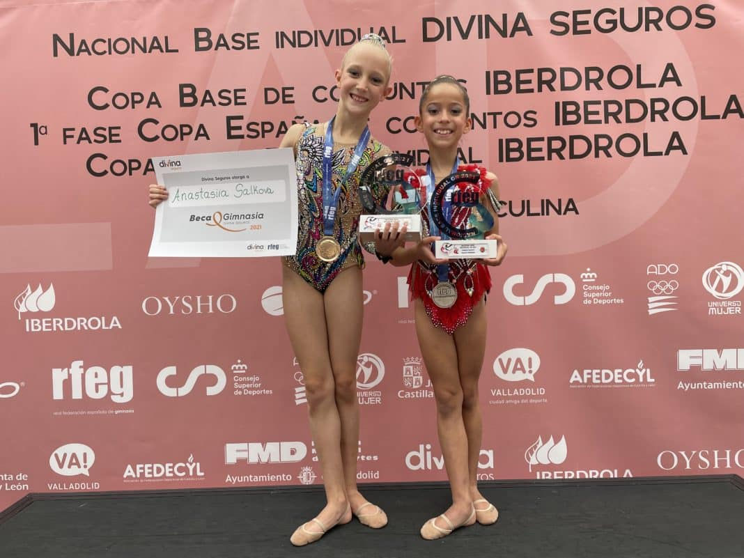 Gold and Silver for Jennifer Colino Gymnasts in Valladolid.