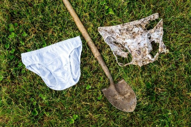 Bloomin' eck - Swiss bury underpants to help plants!