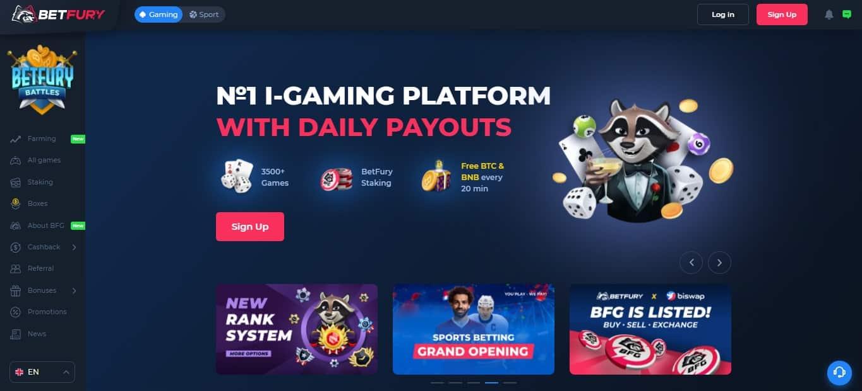 Betfury.io - No 1 i-gaming platform with daily payouts