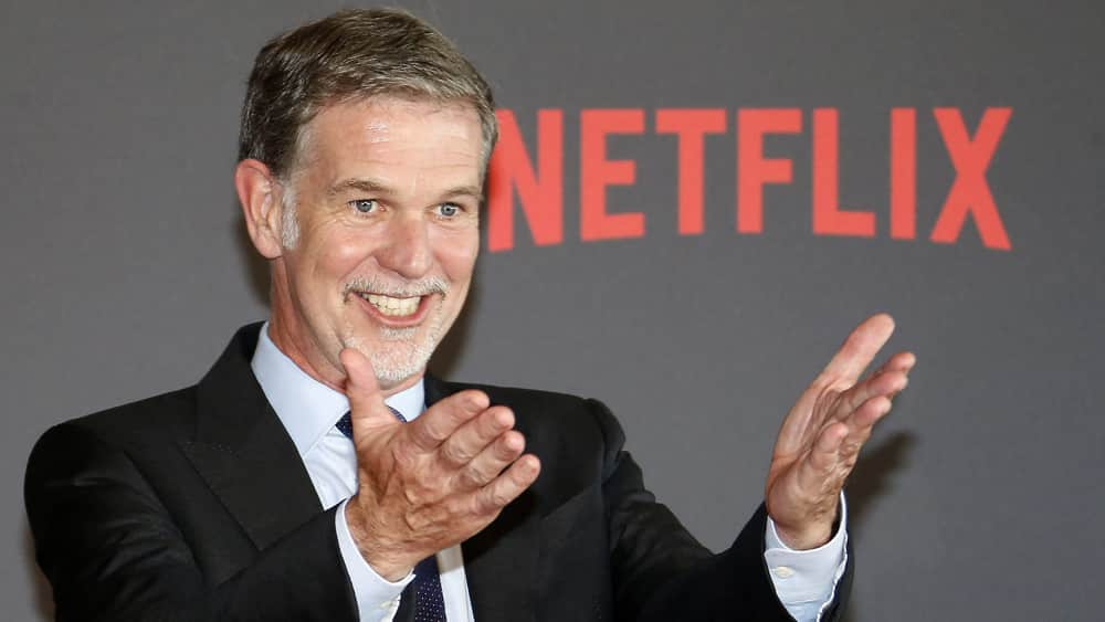 Netflix's chief executive, Reed Hastings