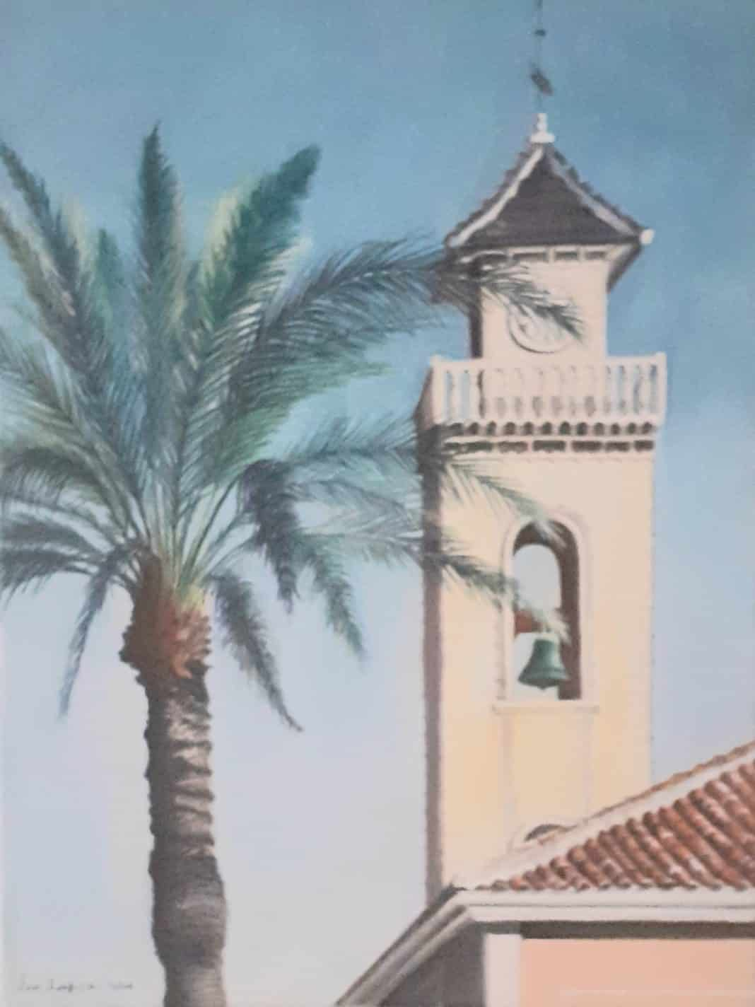 Los Montesinos Church Bell tower prints to raise money for children.