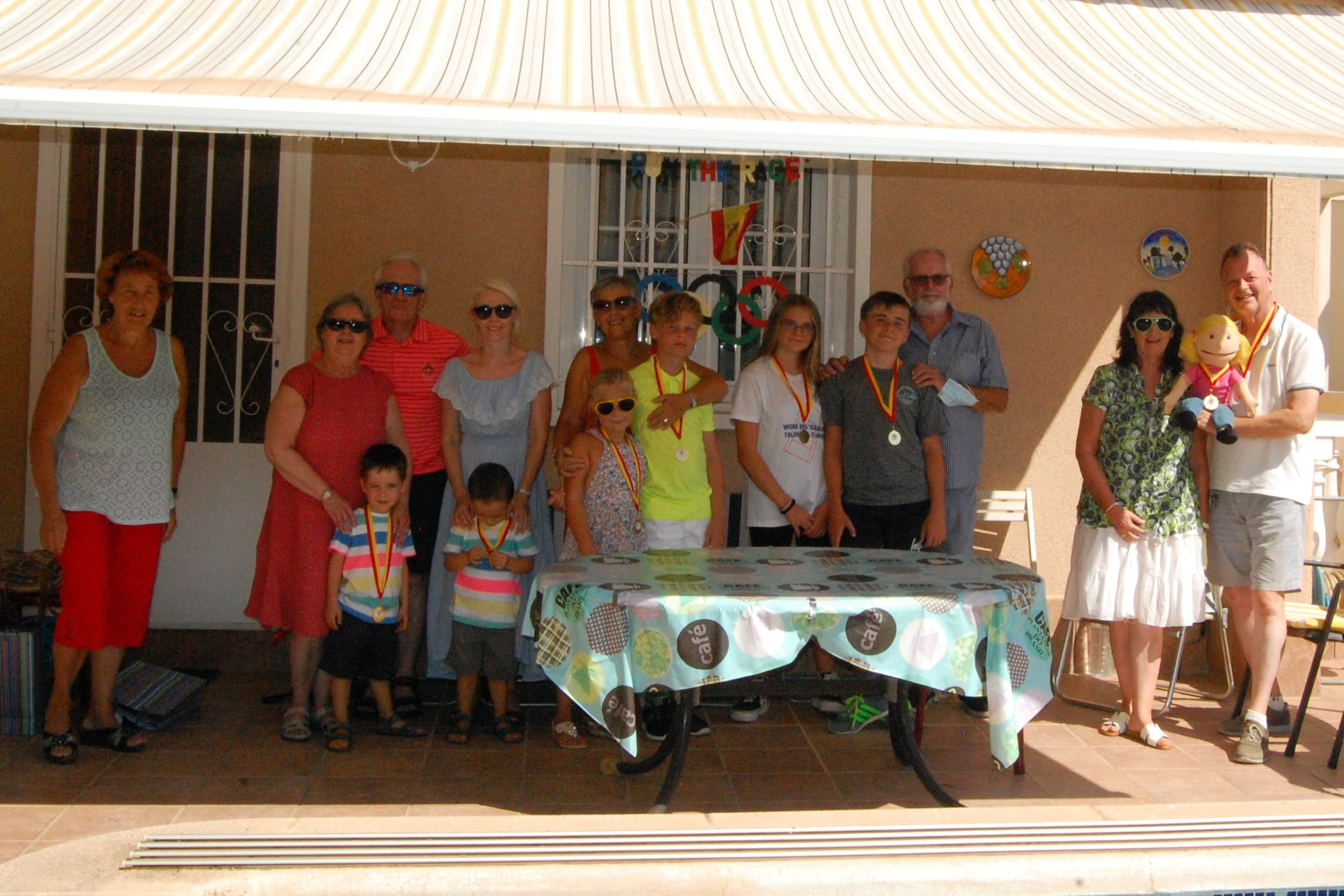 Steve and Irene-Maria opened their garden in the Punta Prima area to welcome two groups of children weekly