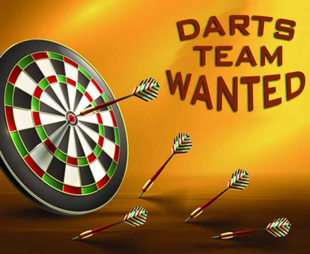 Team wanted for THursday Night Darts League