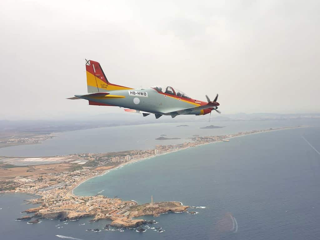 Flying in over the Mar menor