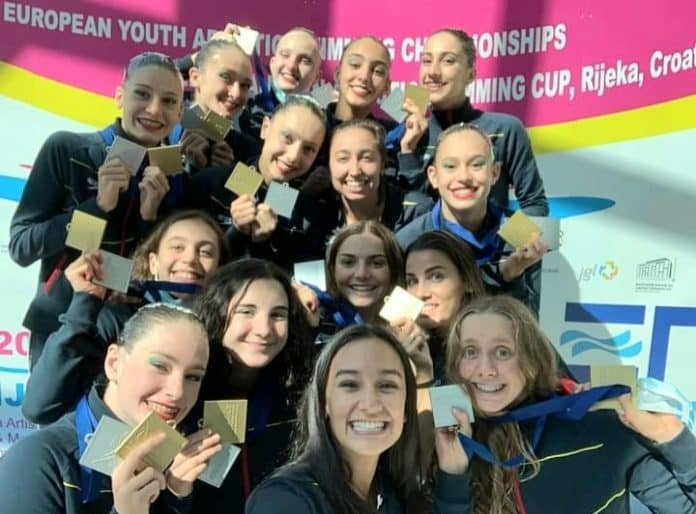 Spanish Youth Team in European Synchronised Swimming Championships, Croatia.