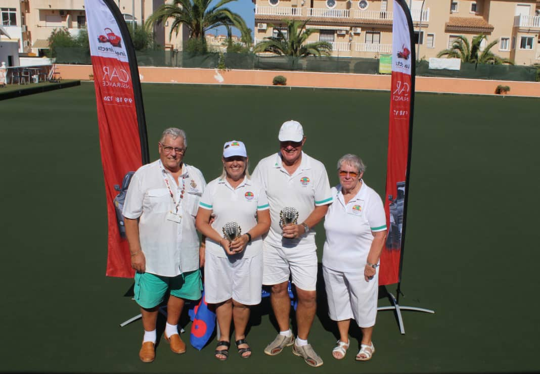Competition winners Linda Freeman and Gary Ponsford