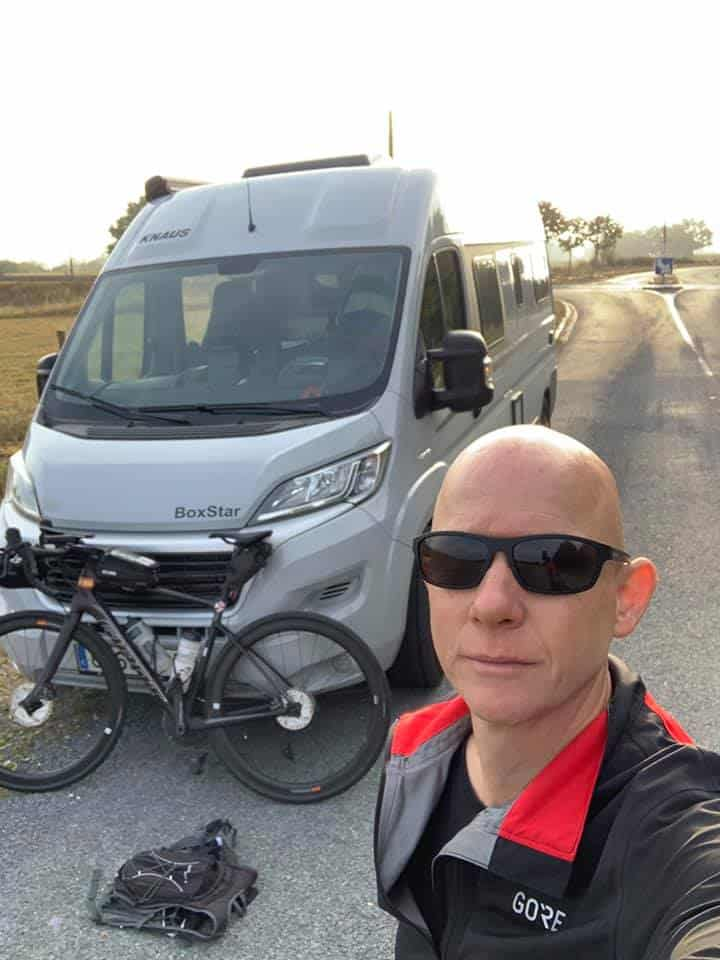 Jonathan Knight ride from Tidworth to Campoverde in Spain