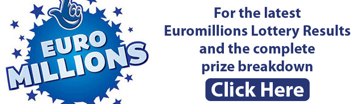Latest Euromillions Lottery Results and Complete Euromillions Lottery Prize Breakdown